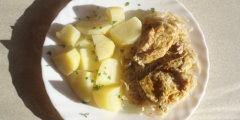 Filet z kurczaka zapiekany z kiszona kapust�