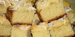 Dietetyczne ciasto dro�d�owe na ma�lance, z serem i posypk�