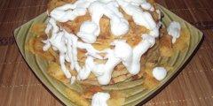 Ciasto z pra�onymi jab�kami