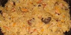 Kapusta kwaszona z grzybami