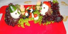 Kanapka Pan i Pani na śniadaniowej uczcie w wesołe jajca odziani  werjsa 2