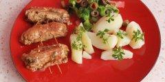 Wielkanocna przekąska -Zrazy ze szczypiorkiem