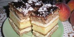 Ciasto serowo-orzechowe