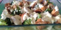 Penne z kurczakiem i brokułem w sosie smietanowo- serowym - obiad w 15 minut