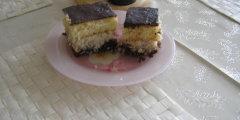 Ciasto biszkoptowe z masą kokosową