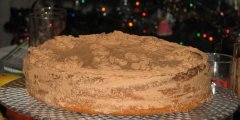 Noworoczny orzechowy torcik z czekoladowo-ajerkoniakow� mas�