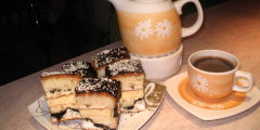 Ciasto z kawą i wkładką serową