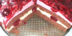Ciasto na zimno z wisniami