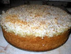 Ciasto kokosowe z kisielem
