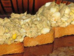 Dietetyczna pasta z w�dzonej makreli i jajek