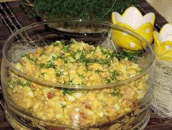 Sa�atka jajeczna z chrzanem na Wielkanoc