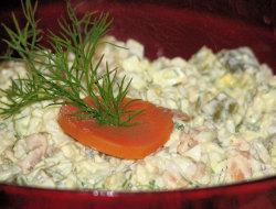 Sałatka z łososia