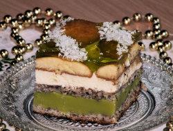 Zielone ciasto na Sylwestra ;)
