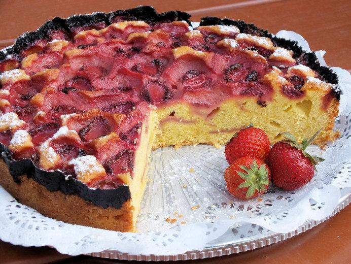 Ucierane Ciasto Z Owocami Lata Truskawkami Przepisy Kulinarne