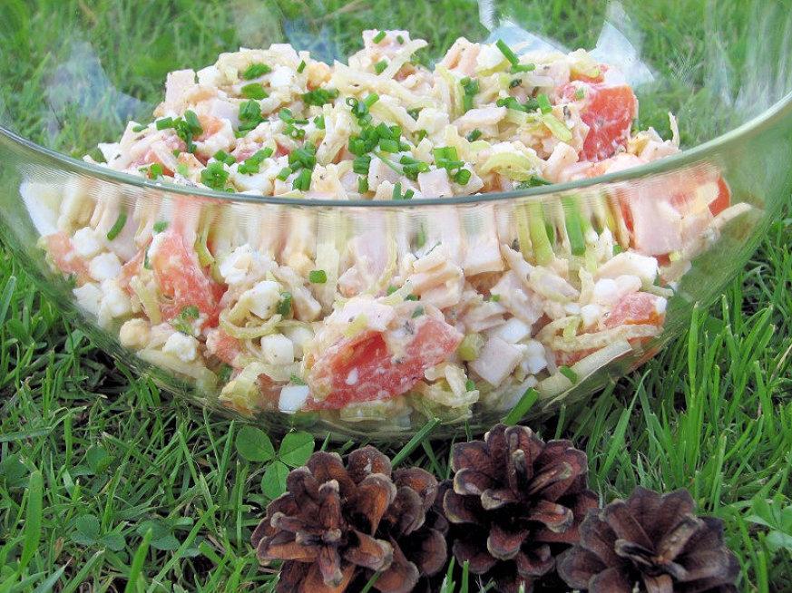 Salatka Drobiowa Z Porem Przepisy Kulinarne Salatki